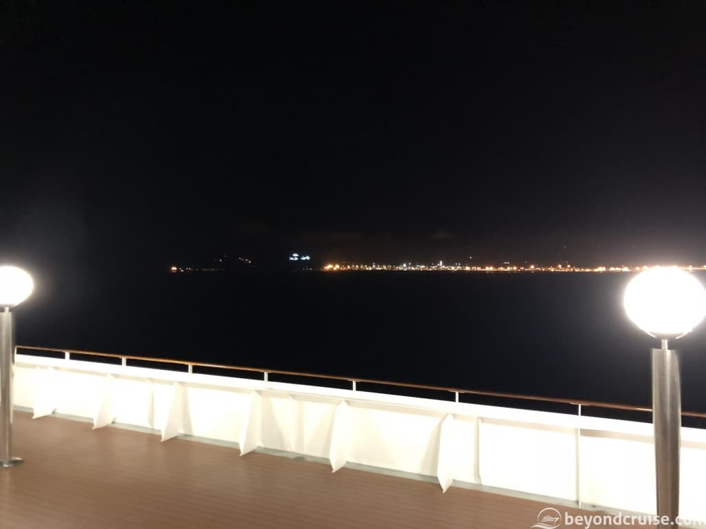 Africa from MSC Magnifica at night