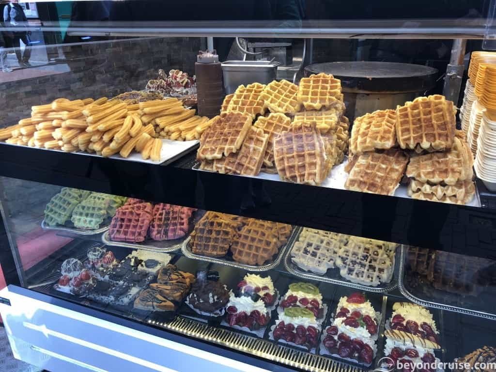 Amsterdam sweet pastries and waffles