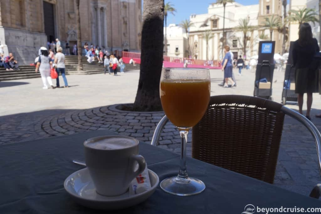 Cadiz Cathedral area local cafe