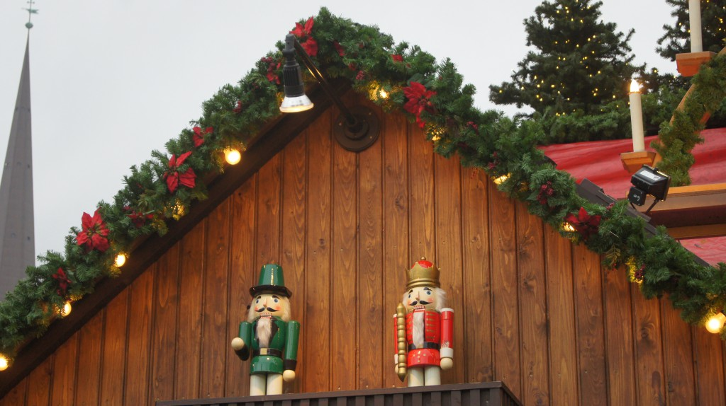 Christmas market traditional decorations