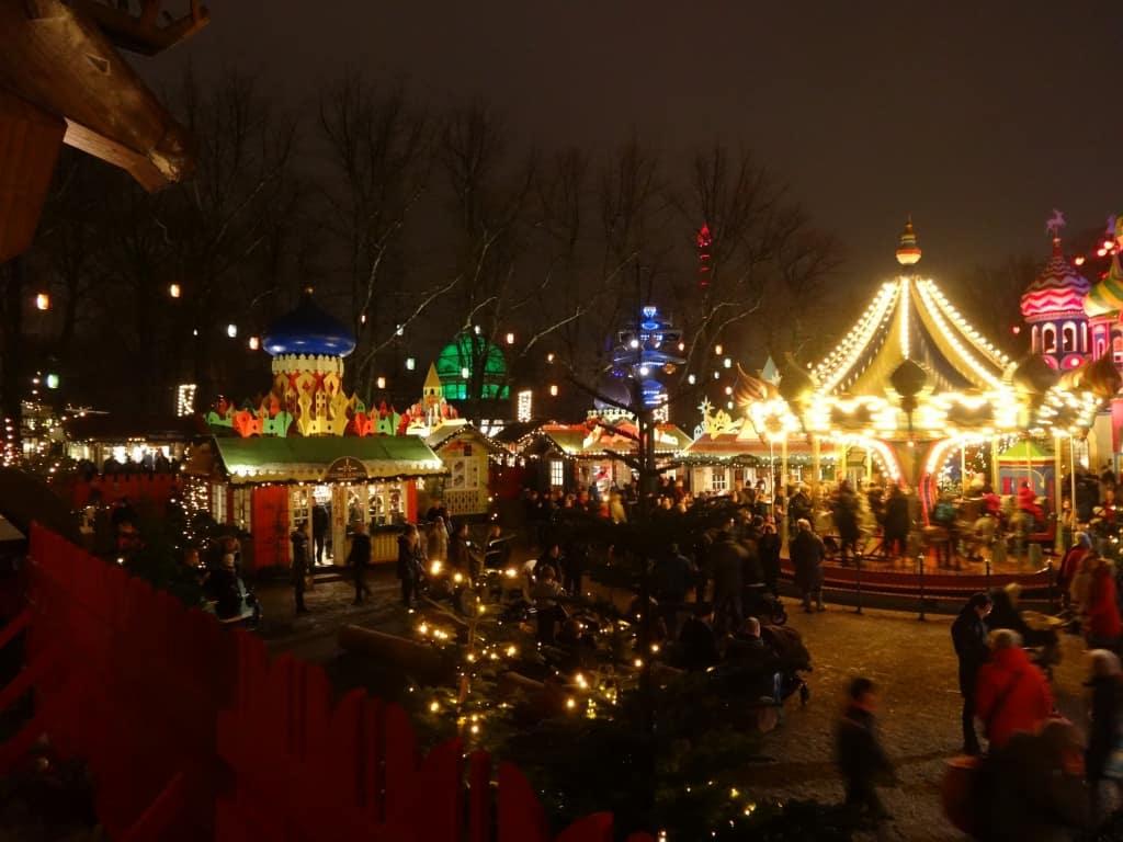 Copenhagen's main Christmas market: Tivoli Gardens