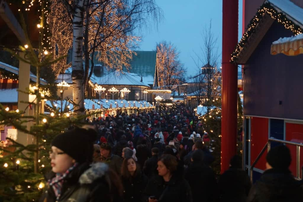 Liseberg Christmas market in Gothenburg, Sweden.