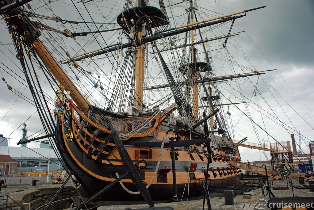 HMS Victory at the Portsmouth Dockyard