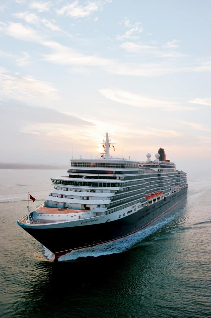 Cunard Line's Queen Elizabeth at Sea