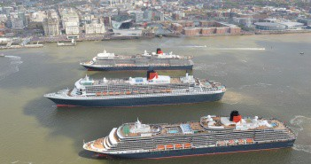 Cunard Line's Three Queens in Liverpool