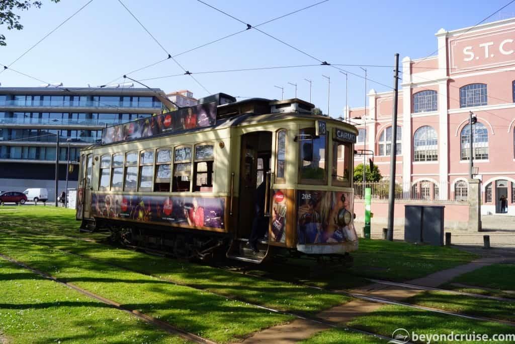 Electric Tram in Porto City