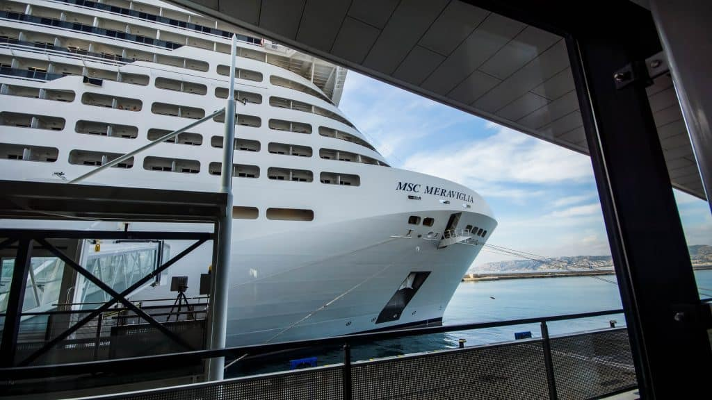 Our final view of MSC Meraviglia :(