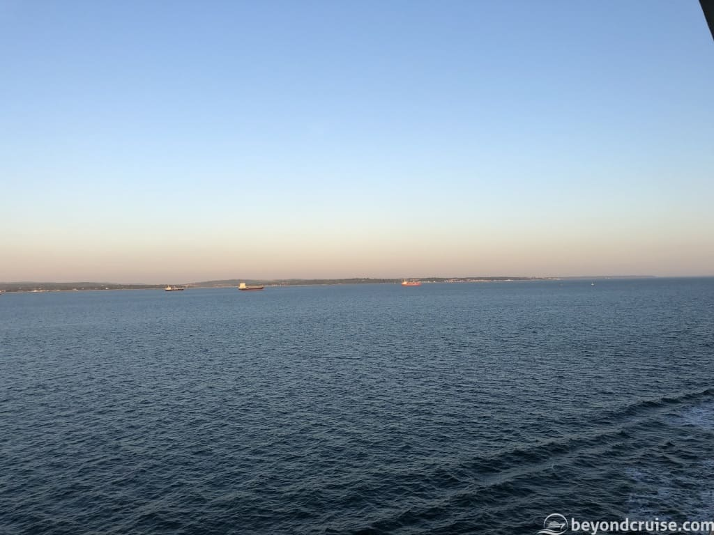 Isle of Wight as seen from MSC Magnifica