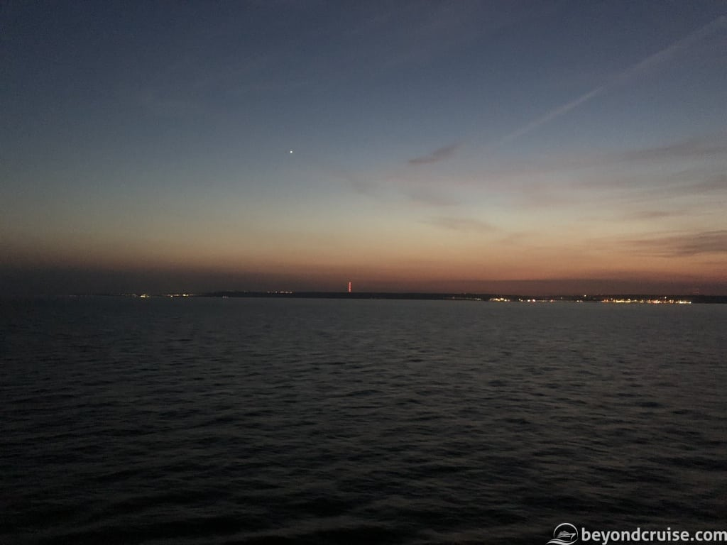The Kent coast as seen from MSC Magnifica