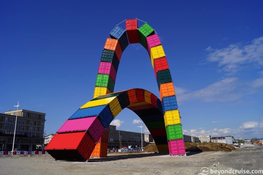 Le Havre - Container Catene sculpture