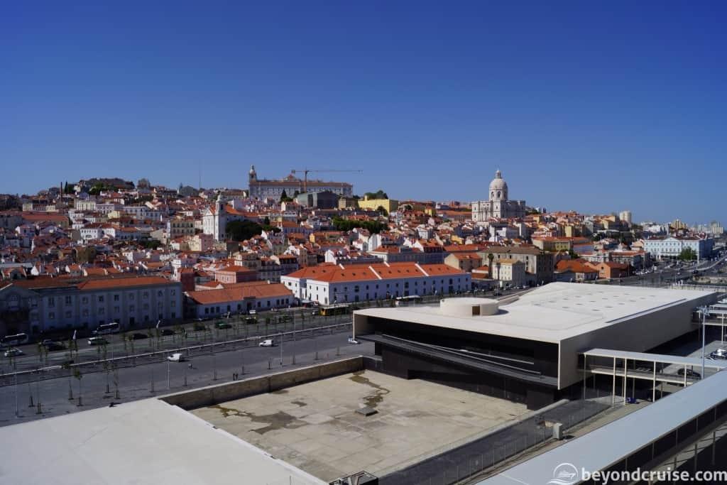 Port of Lisbon Cruise Terminal and Church of Santa Engracia