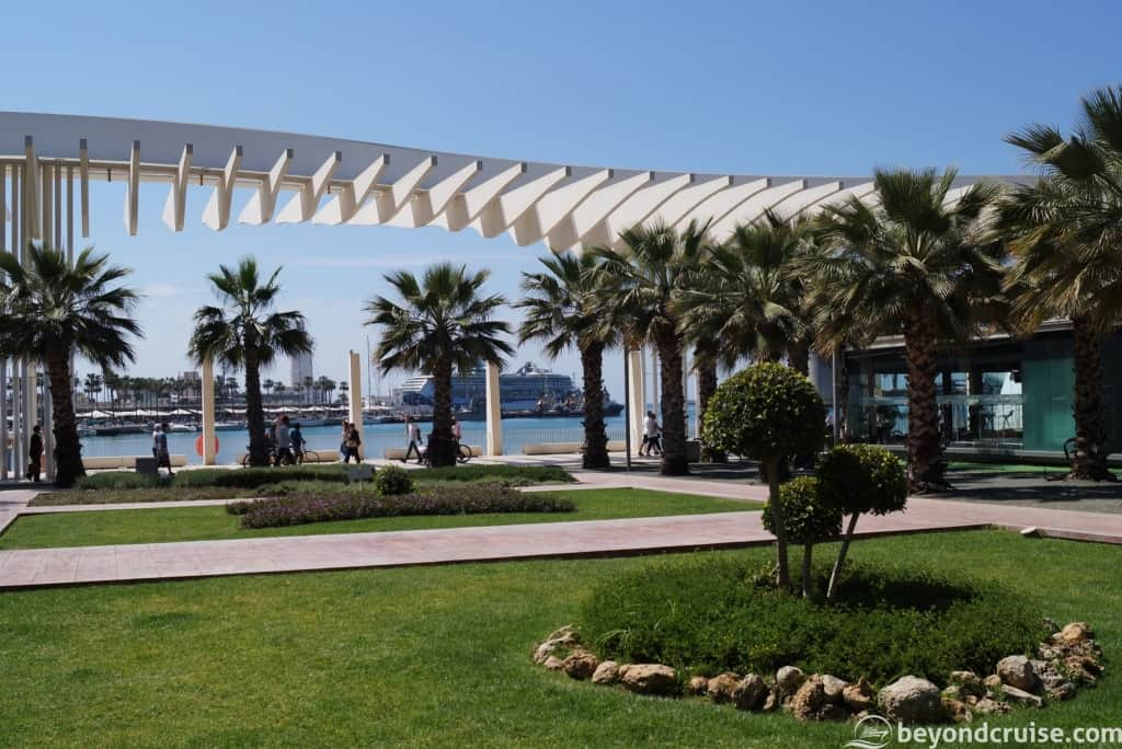 Malaga City Palm promenade and Port Waterfront