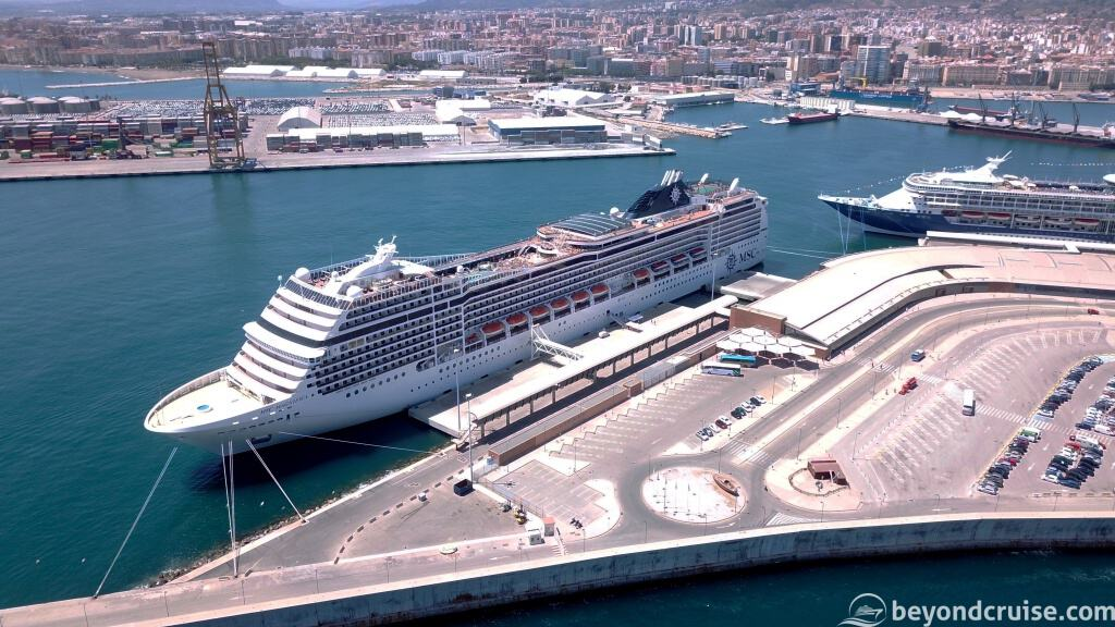 MSC Magnifica in Malaga Cruise Port