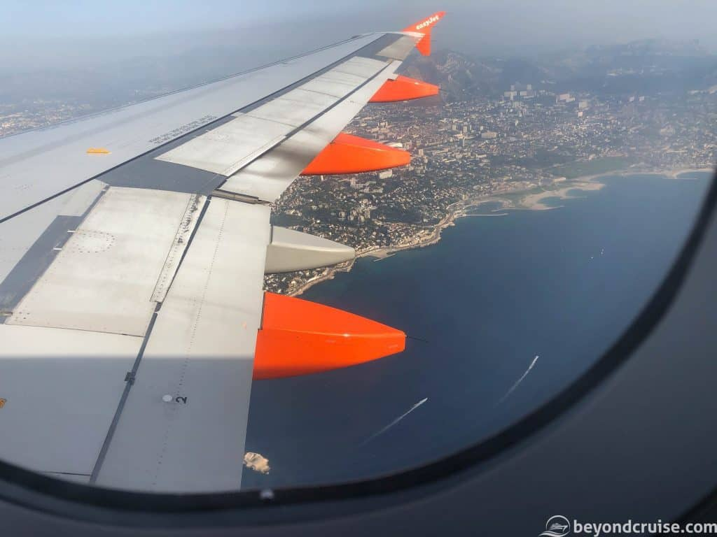 Marseille's coast from the air