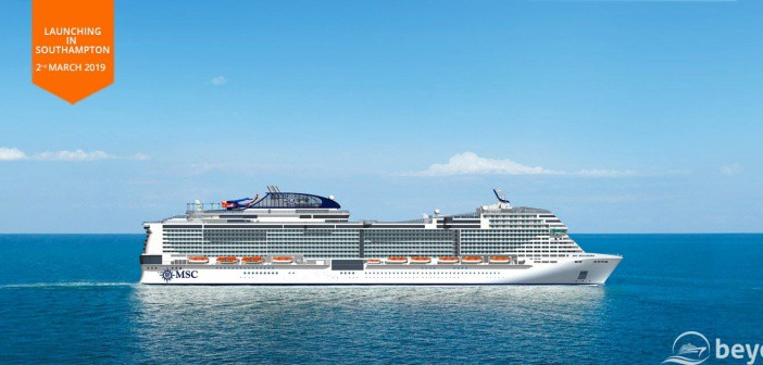 Msc Bellissima To Be Christened March 2019 In Southampton