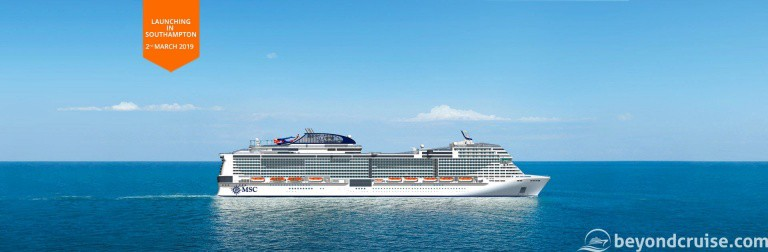 MSC Bellissima to be christened March 2019 in UK