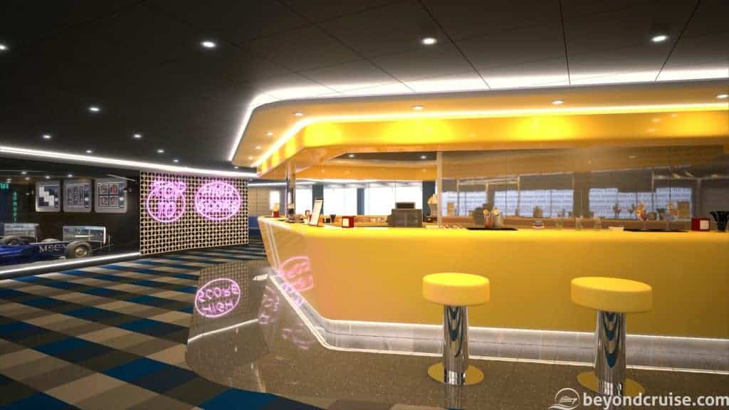 MSC Bellissima - Sports Bar (render)