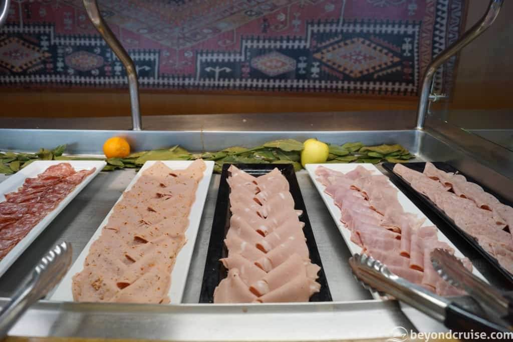 MSC Magnifica Buffet – cold cuts