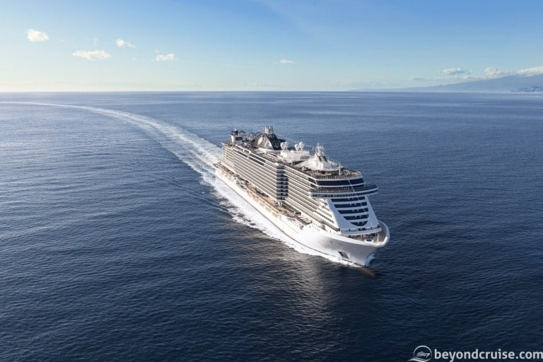 New MSC Seaside EVO-Class ship steel cut