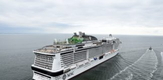 MSC Grandiosa sea trials August 2019