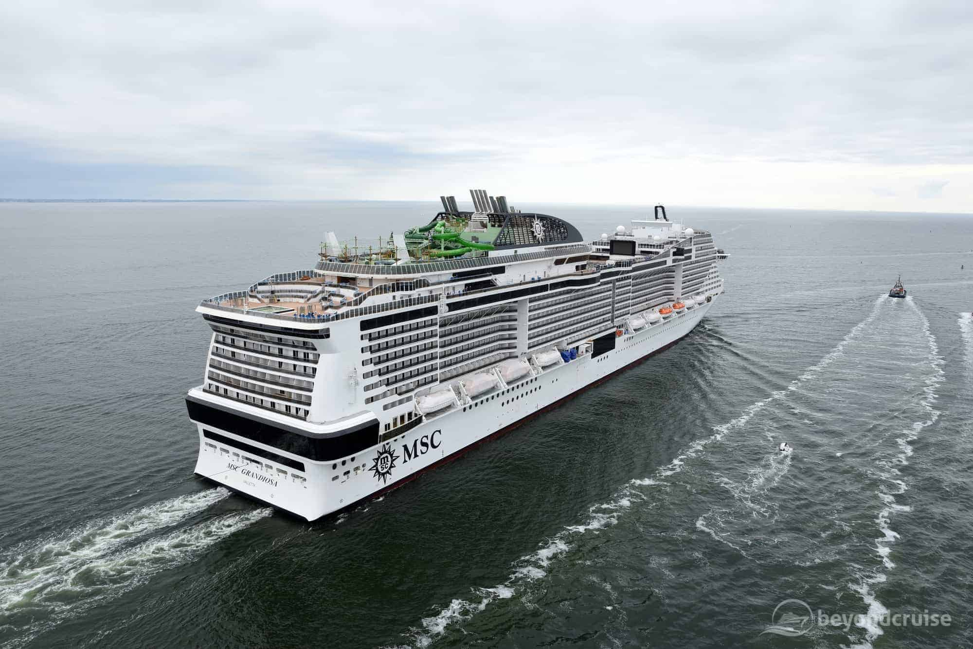 MSC Grandiosa completes sea trials | BeyondCruise