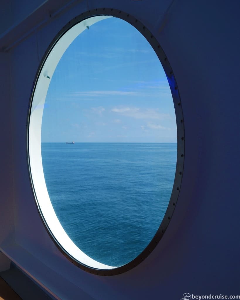 MSC Magnifica Deck 6 sea day window