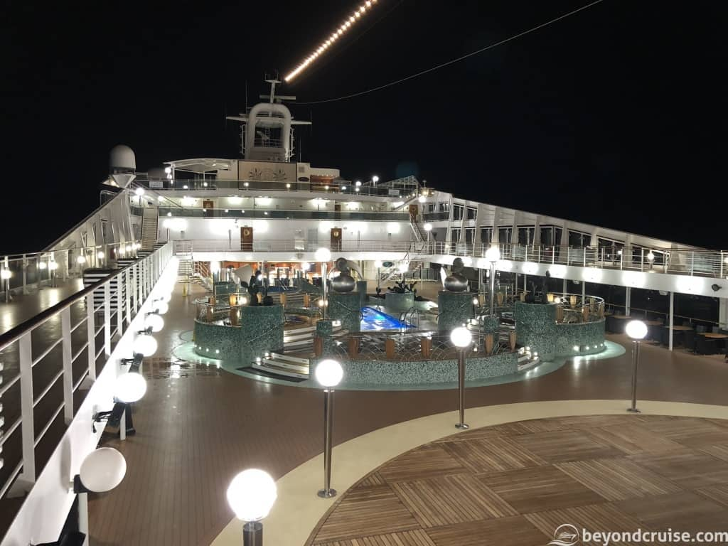 MSC Magnifica at night enroute to Lisbon