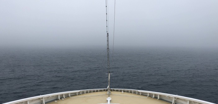 MSC Magnifica in a foggy Atlantic Ocean
