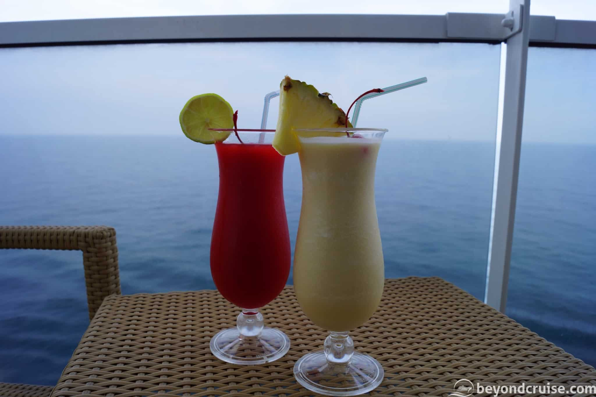 MSC Magnifica Cocktails on the balcony