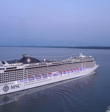 MSC Magnifica as seen from Calshot