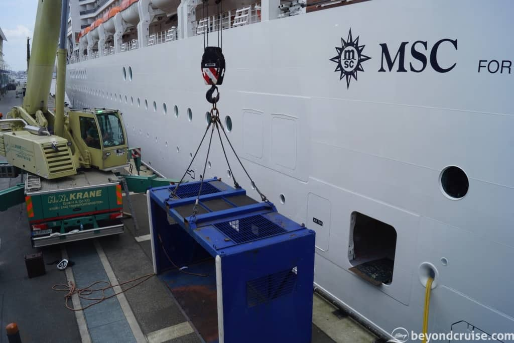 MSC Magnifica cargo loading operations