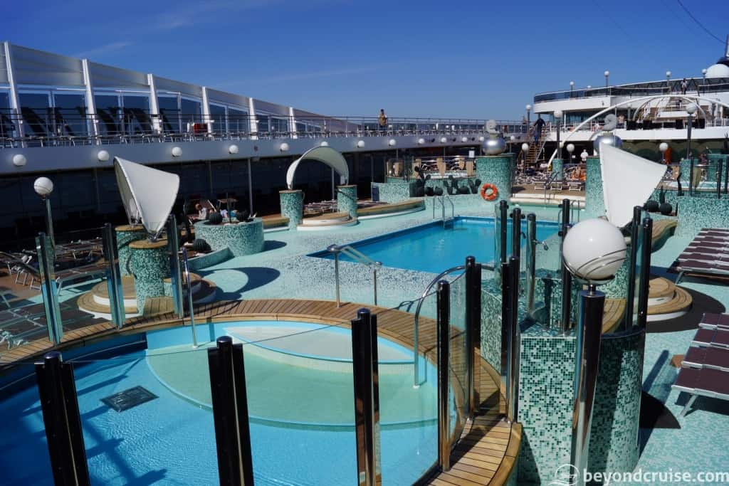 MSC Magnifica outdoor pool area