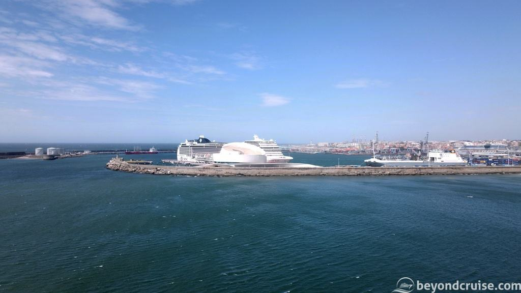 MSC Magnifnica in the port of Leixoes