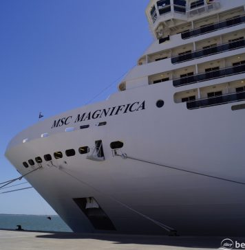 MSC Magnifica port side in Lisbon