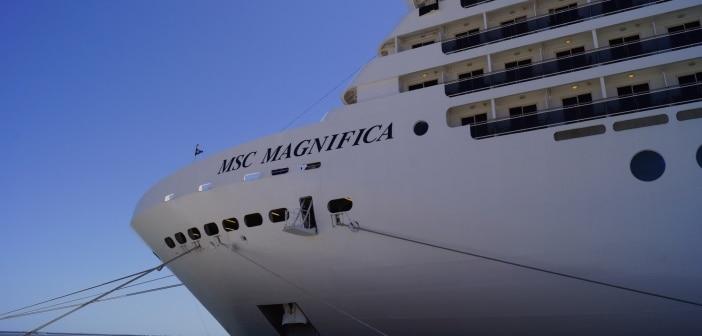MSC Magnifica port side in Lisbon