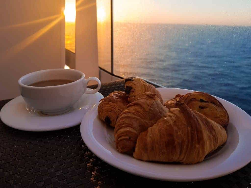MSC Meraviglia - Breakfast on the balcony