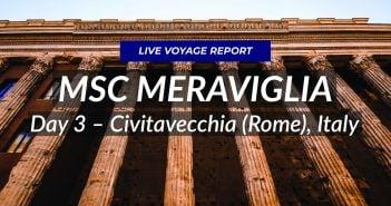 MSC Meraviglia - Civitavecchia Live Blog