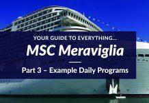 MSC Meraviglia Example Daily Programs