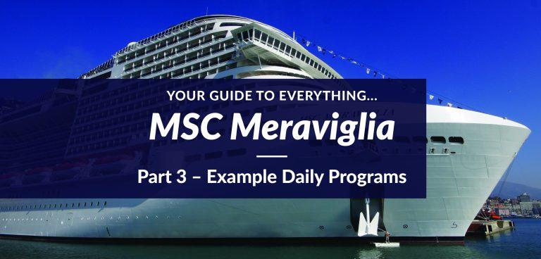 MSC Meraviglia – Example Daily Programs