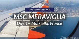 MSC Meraviglia - Day 1, Marseille