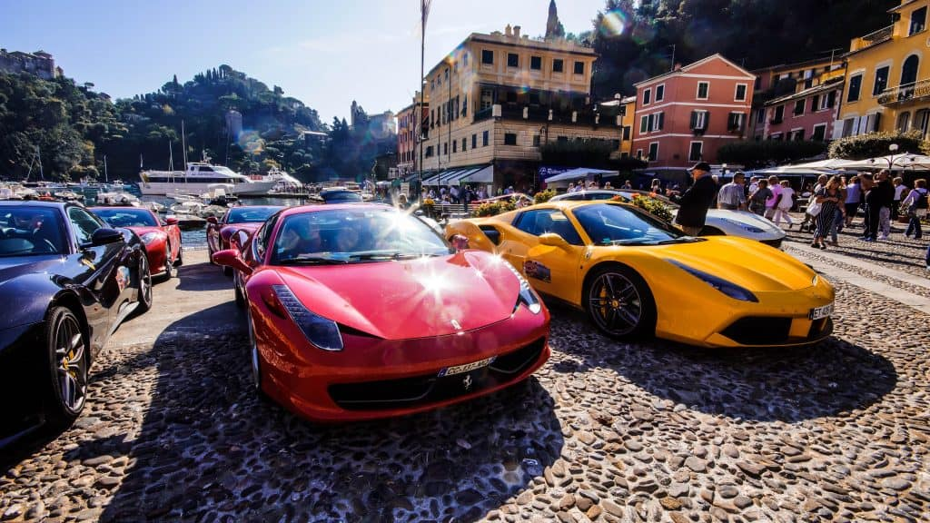Portofino Ferrari sports cars