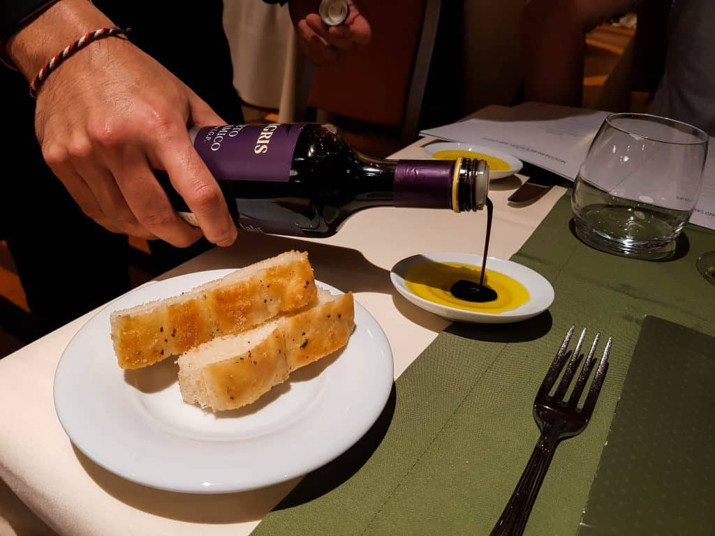 Main Dining Room Dinner – Bread, Olive Oil, Balsamic Vinegar