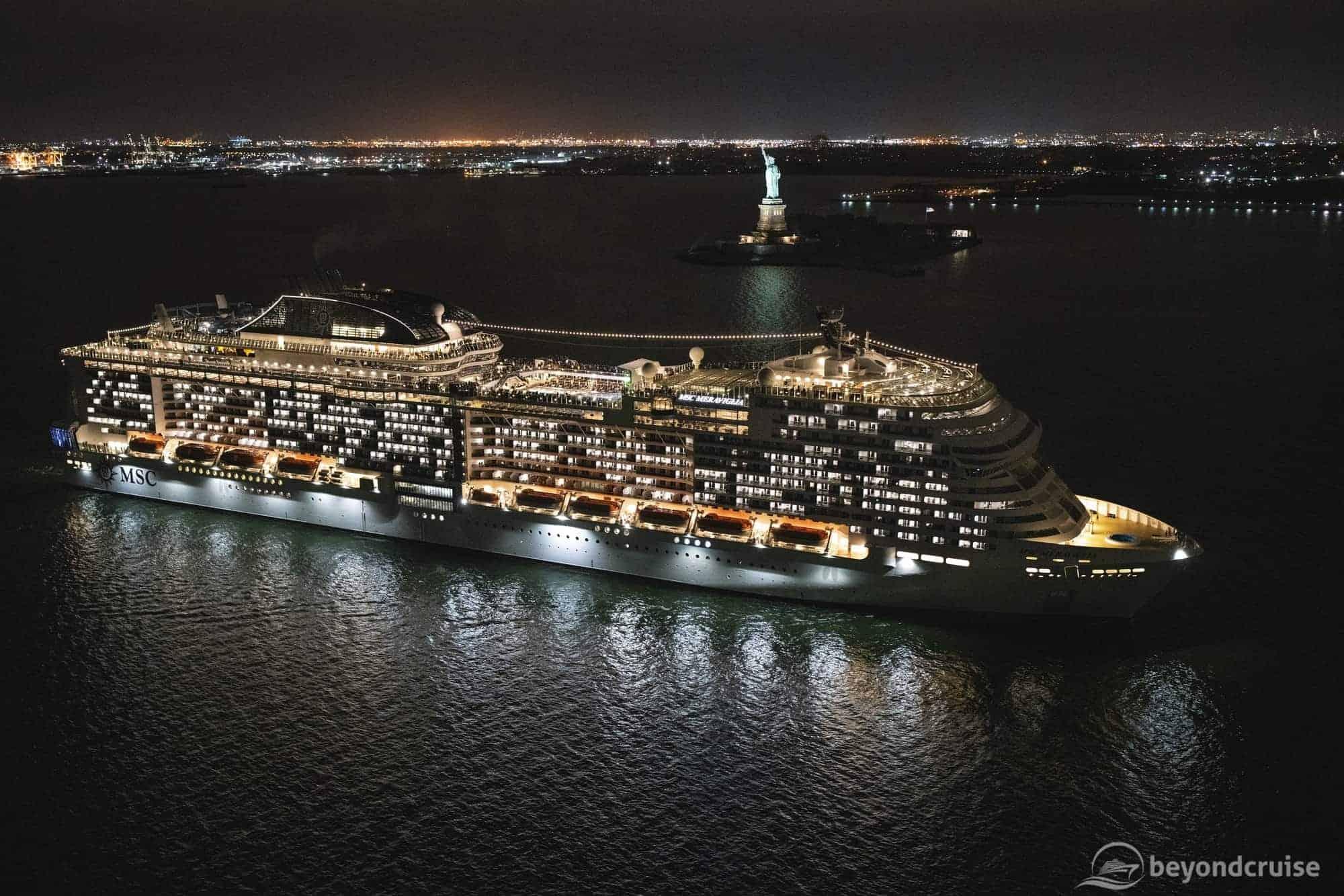 MSC Meraviglia makes her maiden call into New York