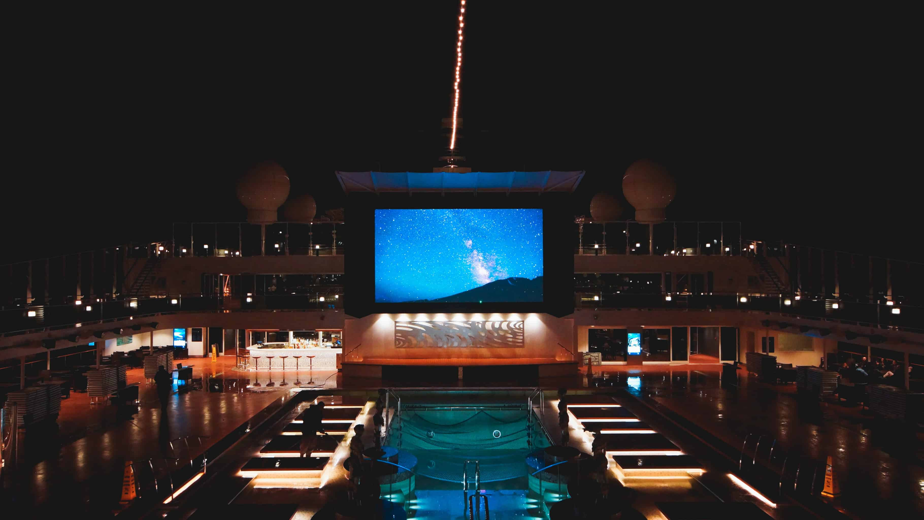 MSC Meraviglia - Atmosphere Pool (Deck 15) at night