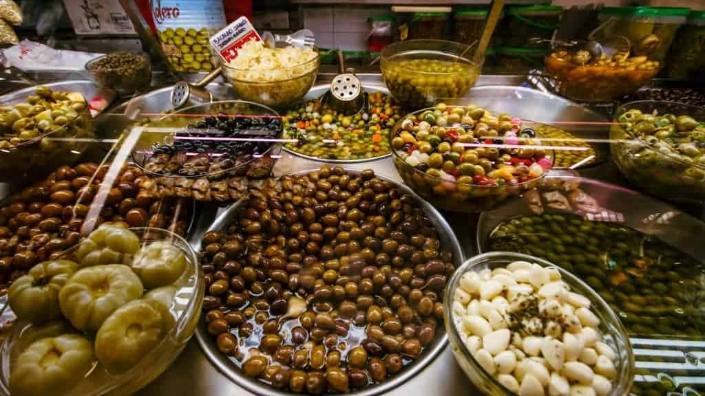 Valencia Central Market, Olives and Pickled Goods