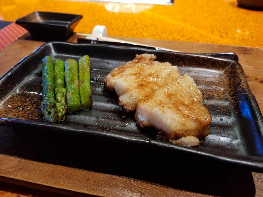 MSC Meraviglia Kaito Teppanyaki – Halibut