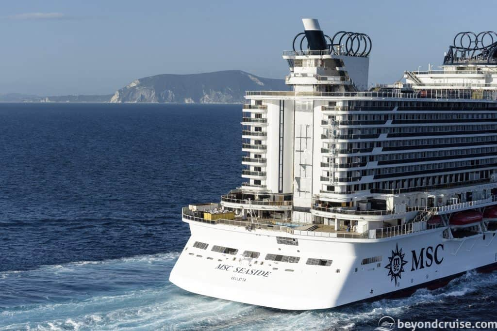 MSC Seaside performs sea trials