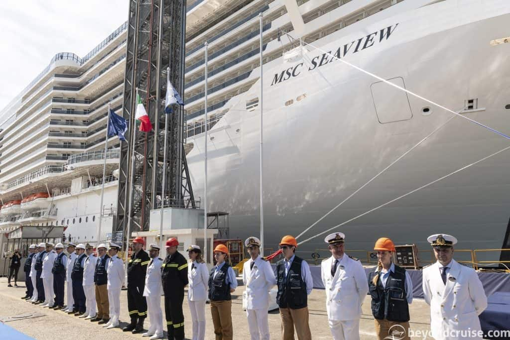 MSC Seaview handover ceremony