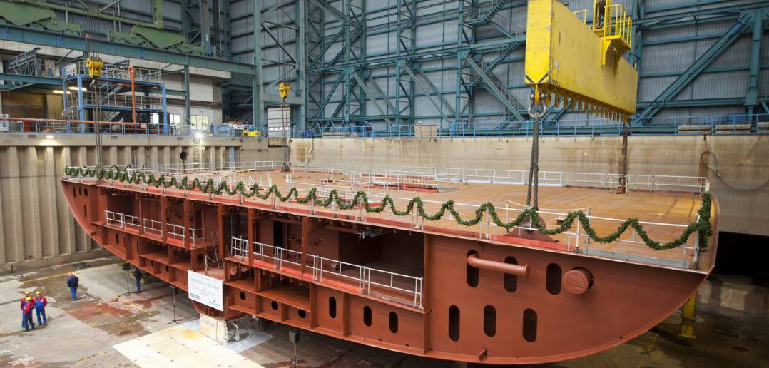 Ovation of the Seas - Keel laying