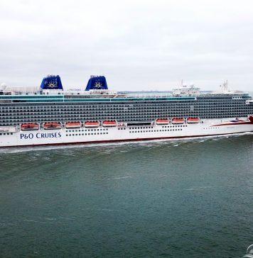 P&O Cruises Britannia passing Calshot